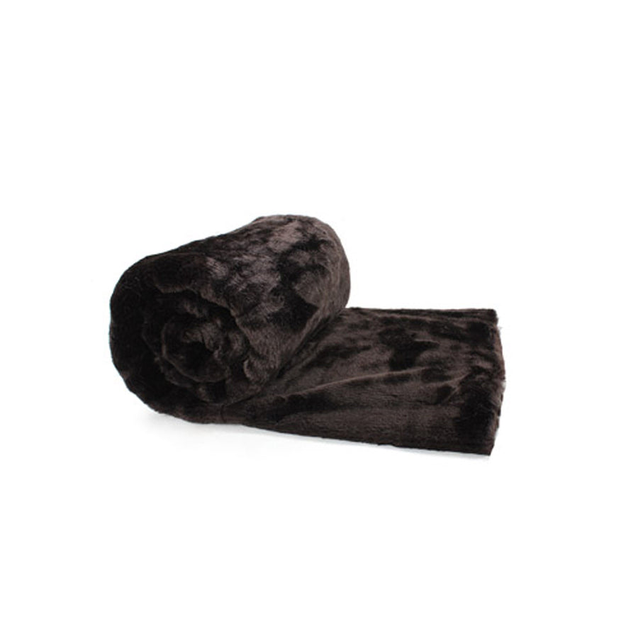 Fur Throw 'Panther Onyx' - MONTAGUE & CAPULET- - 1