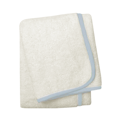 Wrap Me Up Bath Sheet - MONTAGUE & CAPULET-Ivory / Cloud Blue / Plain - 48