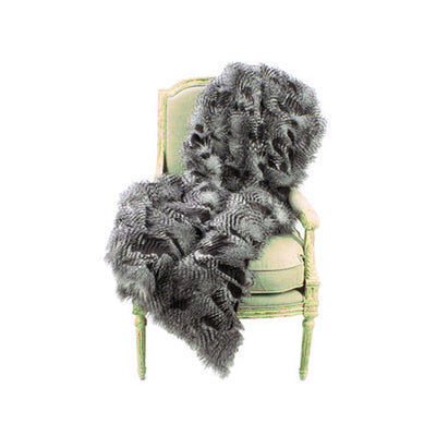 Fur Throw 'Saber Sterling' - MONTAGUE & CAPULET- - 1