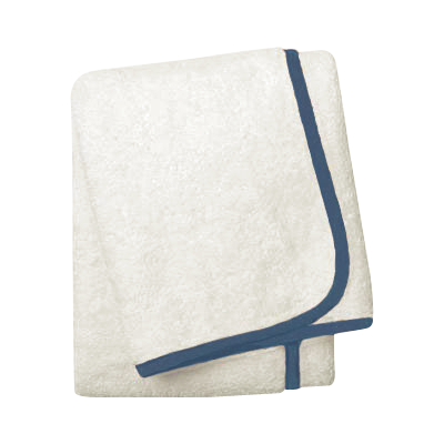 Wrap Me Up Bath Towel - MONTAGUE & CAPULET-Ivory / Sailor Blue / Plain - 35