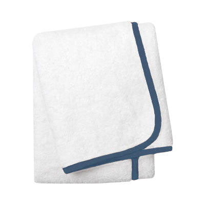 Wrap Me Up Bath Sheet - MONTAGUE & CAPULET-White / Sailor Blue / Plain - 25