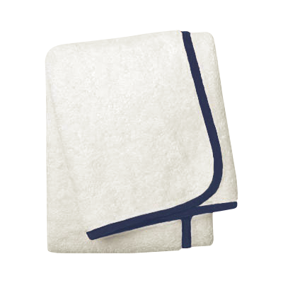 Wrap Me Up Bath Towel - MONTAGUE & CAPULET-Ivory / Sapphire Blue / Plain - 45