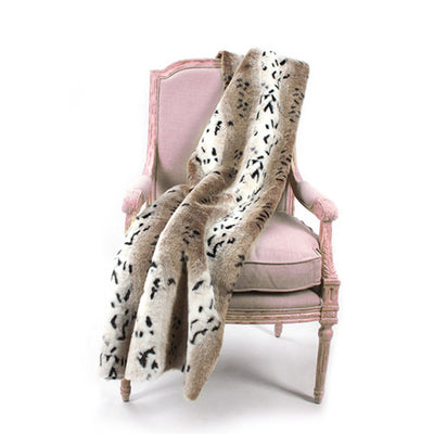 Fur Throw 'Snow Leopard' - MONTAGUE & CAPULET- - 1
