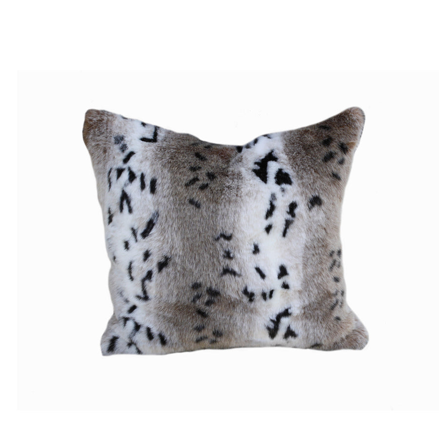 Fur Pillow 'Snow Leopard' - MONTAGUE & CAPULET-