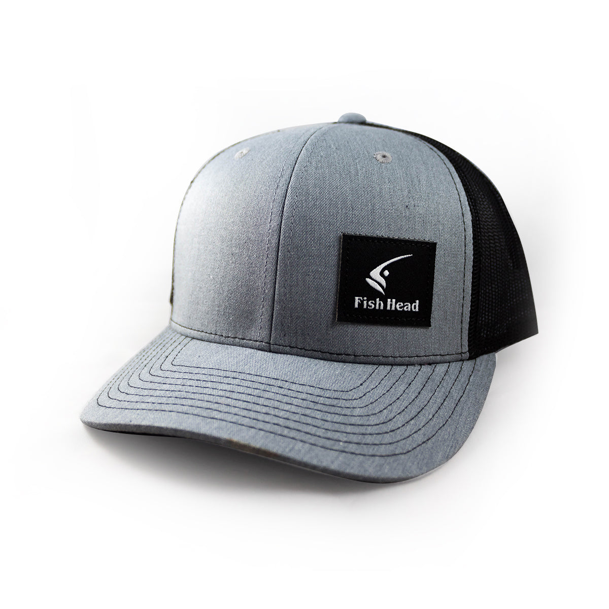 f6f3dfff99c4d Richardson 112 Trucker Cap with Side Black Patch - Fish Head