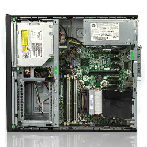 HP ProDesk 600 G1 SFF Computer - 4th Gen Intel Core i3 3.40GHz, 4GB DDR3, 500GB HDD, DVDRW, Intel HD Graphics 4400, Windows 10 Pro - Keyboard/Mouse - Grade A
