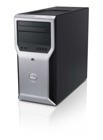Dell Precision T1600 Workstation - Intel Xeon 3.1GHz Quad Core Processor E3-1225 (up to 3.4GHz), 8GB DDR3, 120GB SSD + 500GB HDD, DVD, Intel HD Graphics P3000, Windows 10 Professional, Keyboard/Mouse