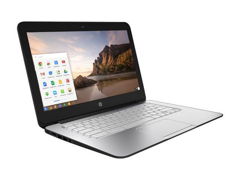 HP Chromebook 14 - Intel Celeron 2955U, 14-inch, 4GB RAM, 16GB eMMC, USB 3.0, Bluetooth, Wi-Fi, Webcam, Chrome OS