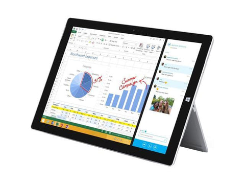 Microsoft Surface 3 10.8-inch Tablet - Intel Atom x7-Z8700 (1.60 GHz), 4GB Memory, 64GB Storage, Touchscreen FHD 1920x1280 res, Windows 10 Home, Keyboard & Charger included