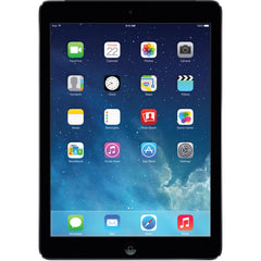 "Apple iPad Air Gen 1 - Apple A7 1.40GHz, 1 GB Mem, 16 GB Flash Storage, 9.7"" 2048 x 1536 - Wi-Fi - iOS 10 - A1474 MD785LL/A Black with Space Gray"