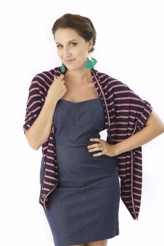 The Mamachic Fly - Mulberry & Merlot Stripes