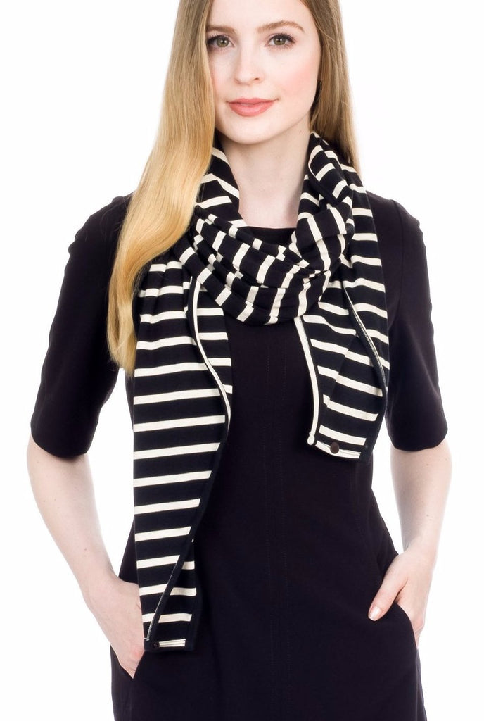The Mamachic Fly - Onyx & Ivory Classic Stripes