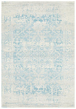 Traditional Hamptons Rug - Pale Blue