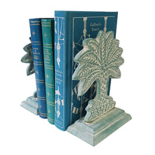 Palm Blue Bookends