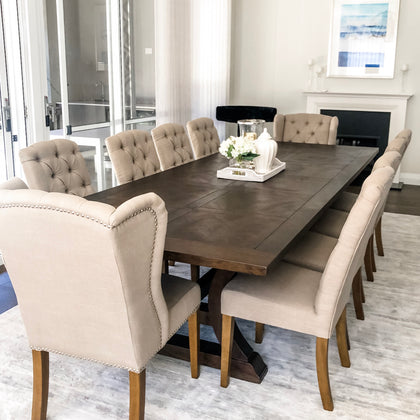 Hamptons Dining Table Shop Online Furniture Shipping Australian Wide Henry Oliver Co