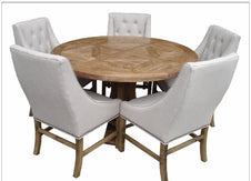 Hudson Round Dining Table 140cm- Natural