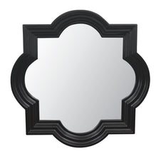 Quatrefoil Mirror - Black