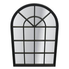 Arch Window Mirror - Black
