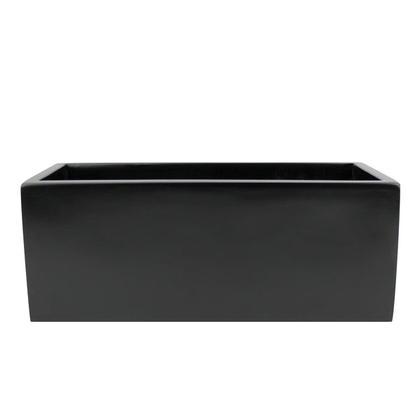 Root And Stock Belmont Rectangle Planter Box Black