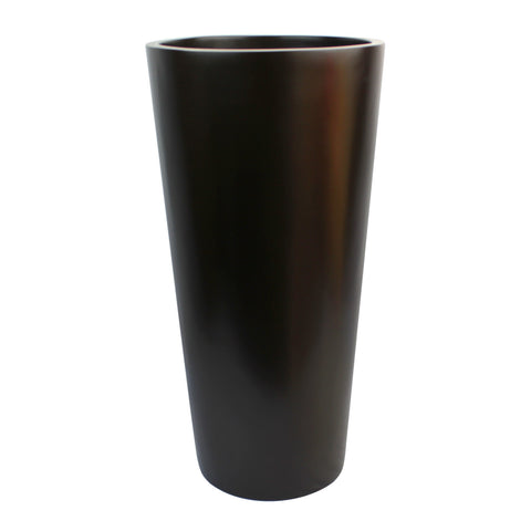 Root and Stock Sonoma Tall Round Cylinder Brown Planter