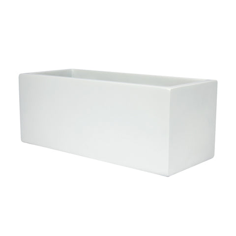 Root and Stock Belmont Rectangle Planter White