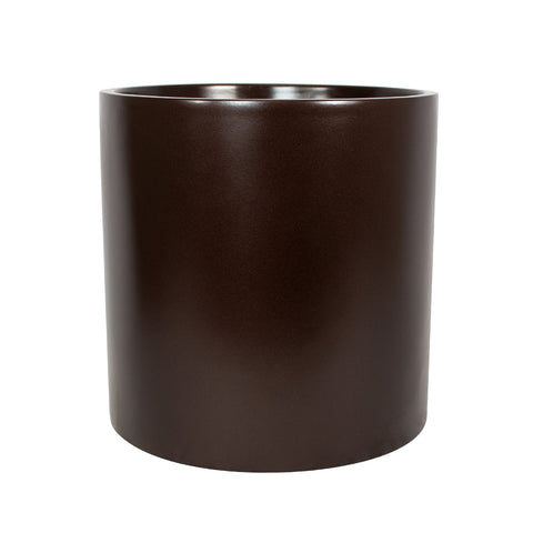 Root and Stock Brea Round Cylinder Planter - Brown