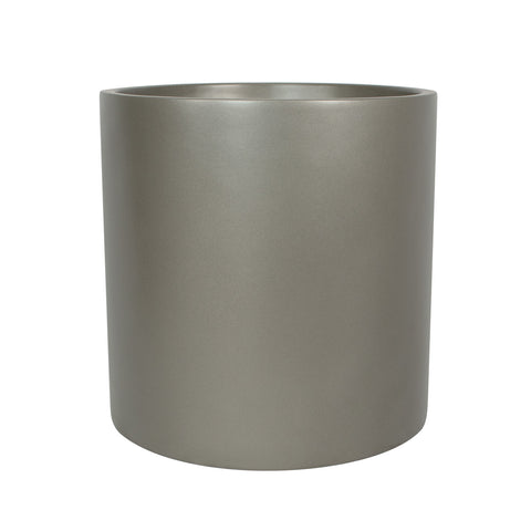 Root and Stock Brea Round Cylinder Planter - Grey