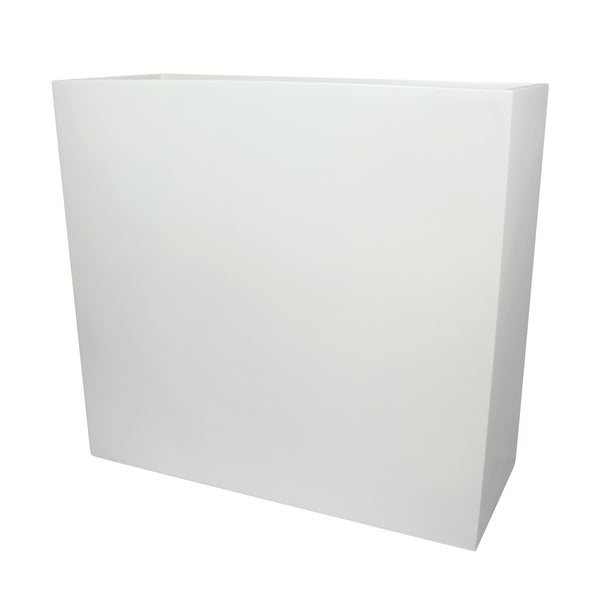 Root And Stock Calistoga Tall Rectangle Planter Box White