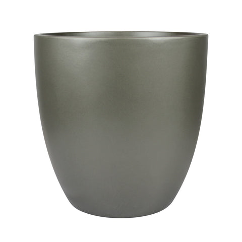 Root and Stock Napa Round Cylinder Planter Grey