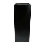 Root and Stock Belvedere Tall Square Cube Planter Box Black Front