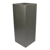 Root and Stock Belvedere Tall Square Cube Planter Box Grey Angle