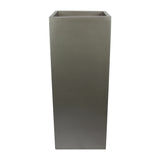 Root and Stock Belvedere Tall Square Cube Planter Box Grey Front