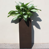 Root and Stock Belvedere Tall Square Cube Planter Box Lifestyle