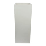 Root and Stock Belvedere Tall Square Cube Planter Box White Front