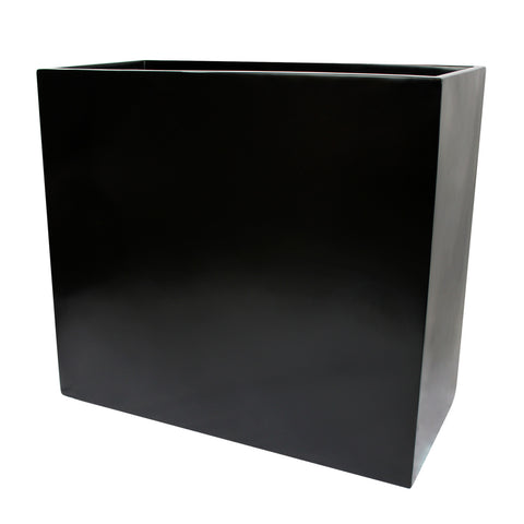 Root and Stock Calistoga Tall Rectangle Planter Box Black Angle