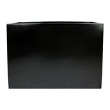 Root and Stock Calistoga Tall Rectangle Planter Box Black Front