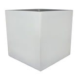 Root and Stock Dixon Square Cube Planter Box White Angle