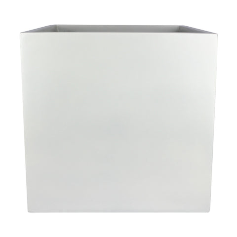 Root and Stock Dixon Square Cube Planter Box White Front
