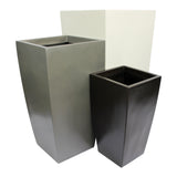 Root and Stock Orinda Tall Square Curved Planter Set
