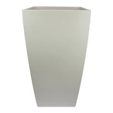 Root and Stock Orinda Tall Square Curved Planter White Front