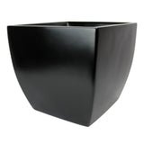 Root and Stock Pacifica Square Curved Planter Box Black Angle