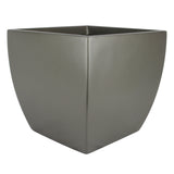 Root and Stock Pacifica Square Curved Planter Box Grey Angle