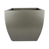 Root and Stock Pacifica Square Curved Planter Box Grey Front