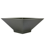 Root and Stock Sausalito Square Bowl Planter Grey Angle