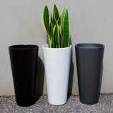 Root and Stock Sonoma Tall Round Cylinder Planter Lifestyle