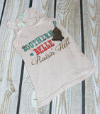 Southern belle raisin'hell tank top