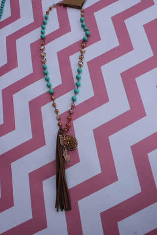 Follow Your Arrow Tassel Necklace