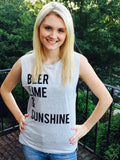 """Beer, Lime and Sunshine"" tank top"