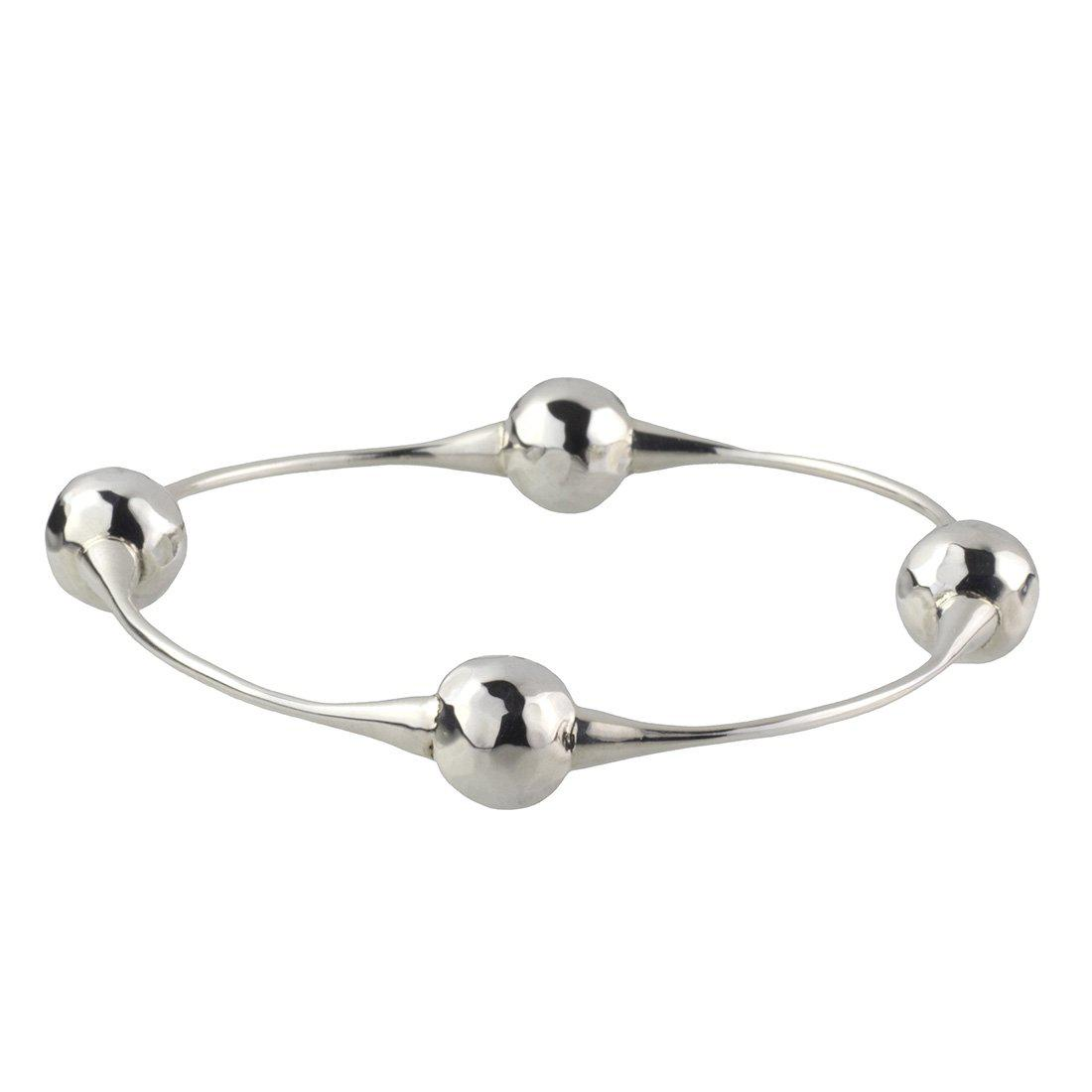 Mexican silver ball bangle bracelet
