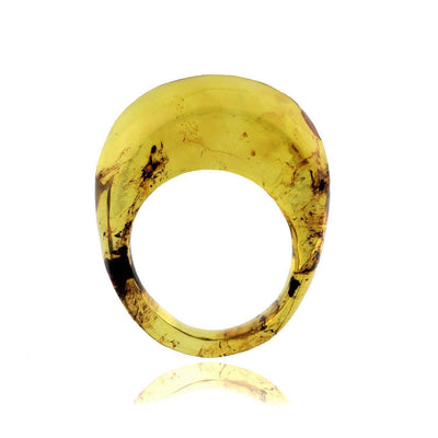 chunky amber ring
